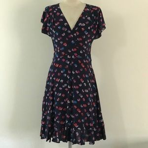 Rebecca Taylor Floral Navy Dress